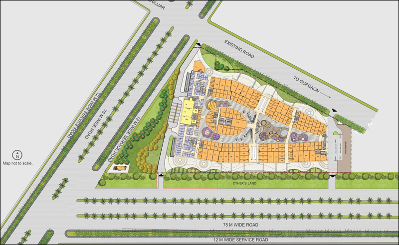 Site Plan Layout Satya The Hive Sector 102 Dwarka Expressway Gurgaon